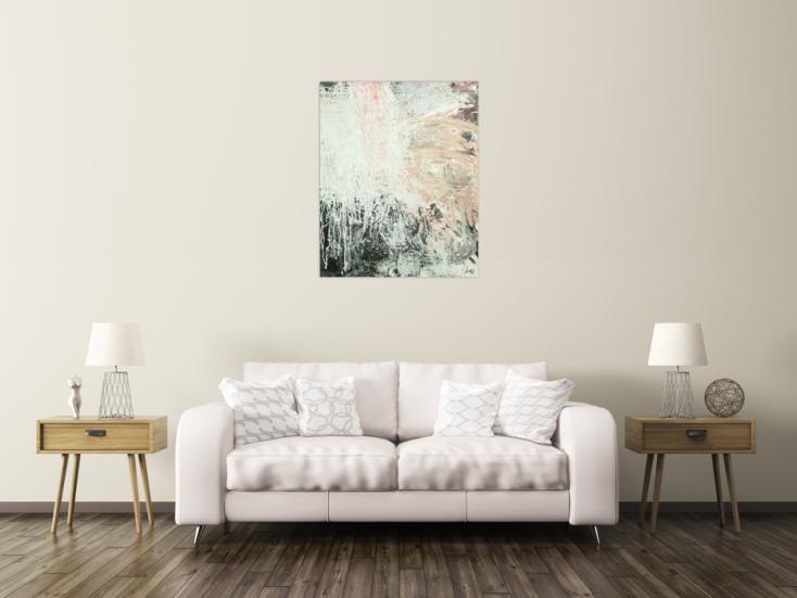 #1733 Gemälde Original abstrakt 100x80cm Action Painting Moderne Kunst ... 100x80cm von Alex Zerr