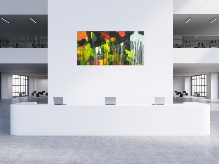#1734 Gemälde Original abstrakt 100x200cm Action Painting ... 100x200cm von Alex Zerr