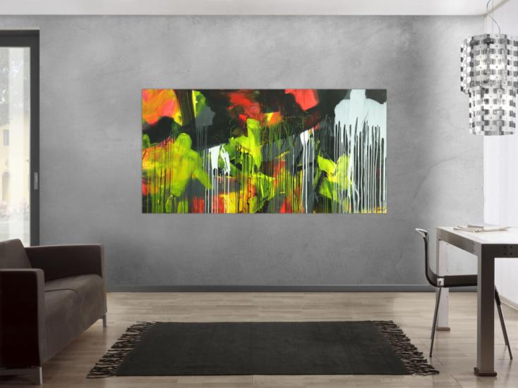 #1734 Gemälde Original abstrakt 100x200cm Action Painting ... 100x200cm von Alex Zerr