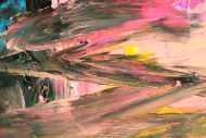 Detailaufnahme Original Gemälde abstrakt 150x130cm Mischtechnik Modern Art handgefertigt  gelb orange anthrazit Unikat