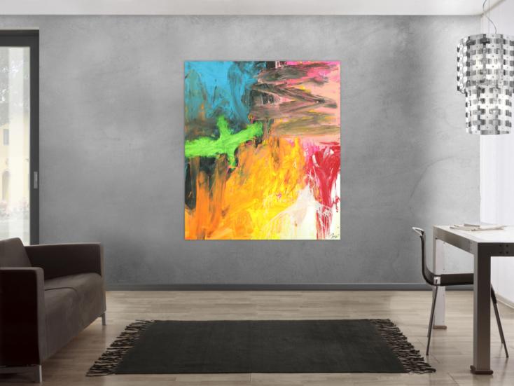 #1735 Original Gemälde abstrakt 150x130cm Mischtechnik Modern Art ... 150x130cm von Alex Zerr