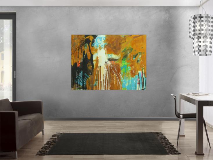 #1736 Abstraktes Original Gemälde 110x150cm Aus echtem Rost Moderne Kunst ... 110x150cm von Alex Zerr