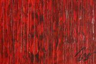 Detailaufnahme Abstraktes Original Gemälde 80x180cm Spachteltechnik Modern Art auf Leinwand sehr bunt hochwertig