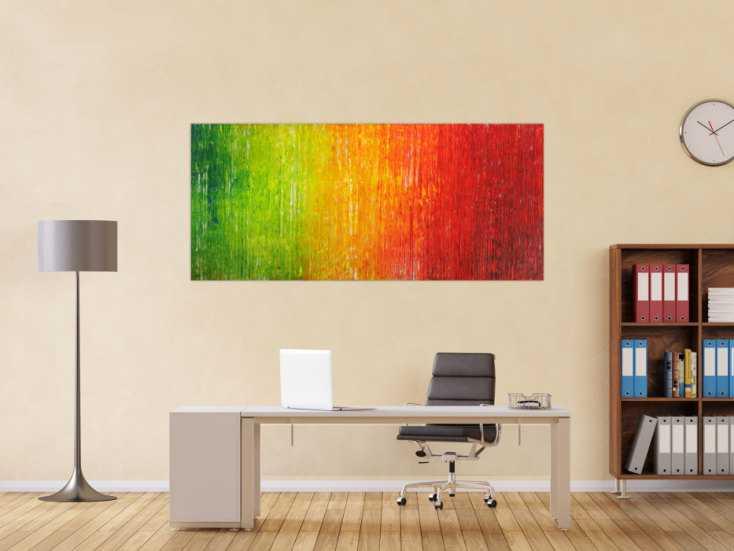 #1738 Abstraktes Original Gemälde 80x180cm Spachteltechnik Modern Art auf ... 80x180cm von Alex Zerr