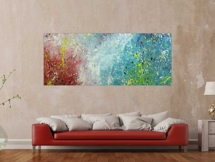 #1739 Original Gemälde abstrakt 80x200cm Action Painting Moderne Kunst ... 80x200cm von Alex Zerr