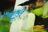Detailaufnahme Gemälde Original abstrakt 140x180cm Spachteltechnik Moderne Kunst handgefertigt Mischtechnik bunt einzigartig