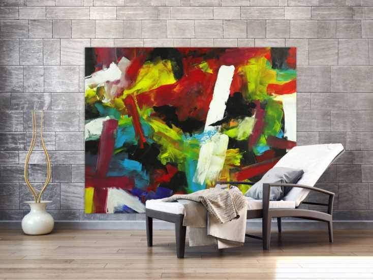 #1740 Gemälde Original abstrakt 140x180cm Spachteltechnik Moderne Kunst ... 140x180cm von Alex Zerr