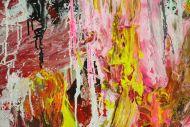 Detailaufnahme Abstraktes Original Gemälde 130x140cm Action Painting zeitgenössisch auf Leinwand Mischtechnik braun schwarz beige Einzelstück