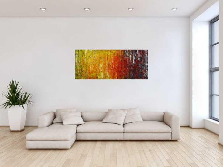 #1745 Abstraktes Original Gemälde 56x140cm Spachteltechnik Moderne Kunst ... 56x140cm von Alex Zerr
