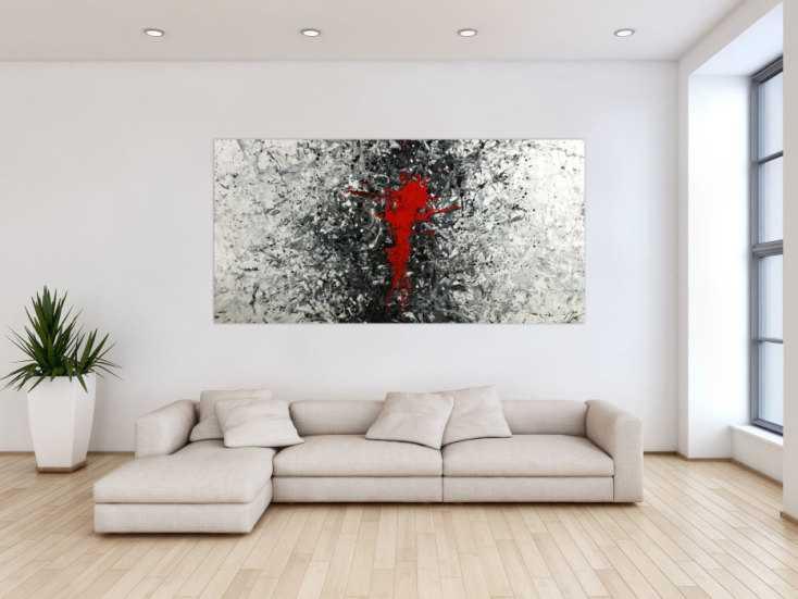 #1748 Gemälde Original abstrakt 100x200cm Action Painting zeitgenössisch ... 100x200cm von Alex Zerr