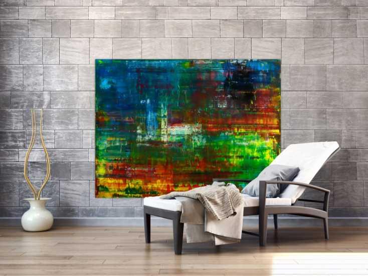 #1749 Abstraktes Original Gemälde 120x160cm Spachteltechnik Moderne Kunst ... 120x160cm von Alex Zerr