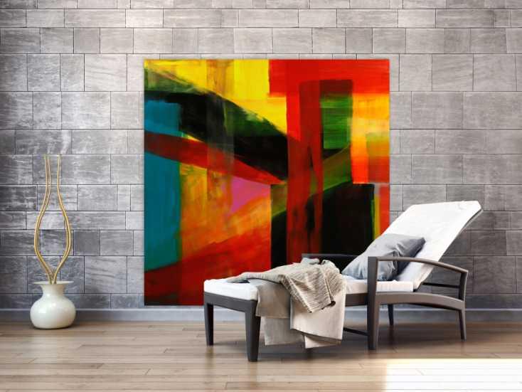 #1750 Gemälde Original abstrakt 150x150cm Mischtechnik Modern Art ... 150x150cm von Alex Zerr