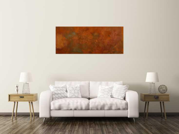 #1751 Original Gemälde abstrakt 60x150cm aus echtem Rost Moderne Kunst ... 60x150cm von Alex Zerr