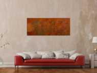 Original Gemälde abstrakt 60x150cm aus echtem Rost Moderne Kunst handgefertigt mit Rostfarbe Einzelstück