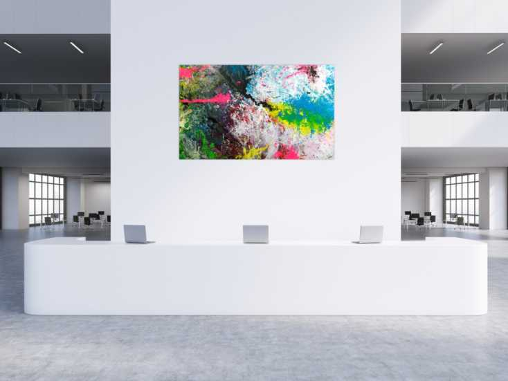 #1754 Gemälde Original abstrakt 120x200cm Action Painting ... 120x200cm von Alex Zerr