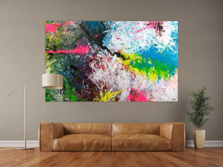 #1754 Gemälde Original abstrakt 120x200cm Action Painting ... 120x200cm von Alex Zerr