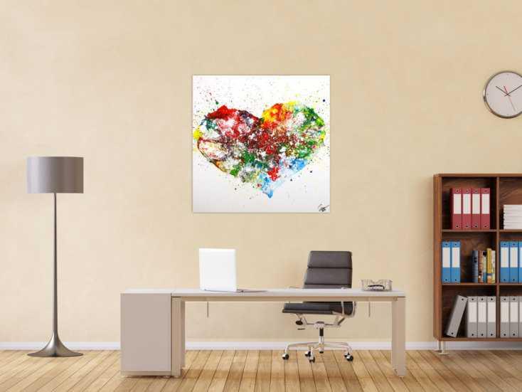 #1756 Gemälde Original abstrakt 100x100cm Fluid Painting zeitgenössisch ... 100x100cm von Alex Zerr