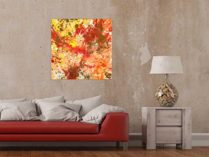 #1757 Gemälde Original abstrakt 70x70cm Action Painting zeitgenössisch ... 70x70cm von Alex Zerr