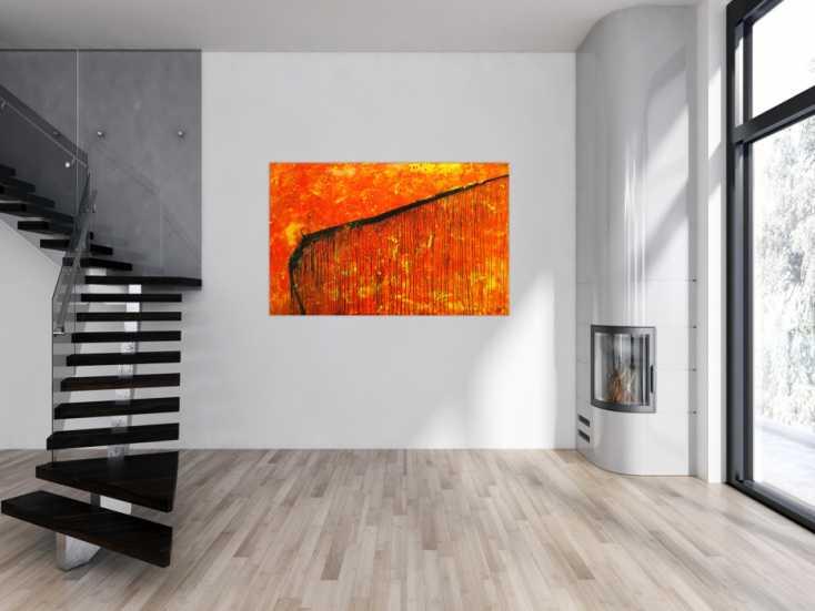 #1758 Abstraktes Original Gemälde 100x160cm Action Painting Modern Art auf ... 100x160cm von Alex Zerr