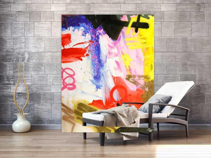 #1759 Abstraktes Original Gemälde 180x140cm Action Painting ... 180x140cm von Alex Zerr