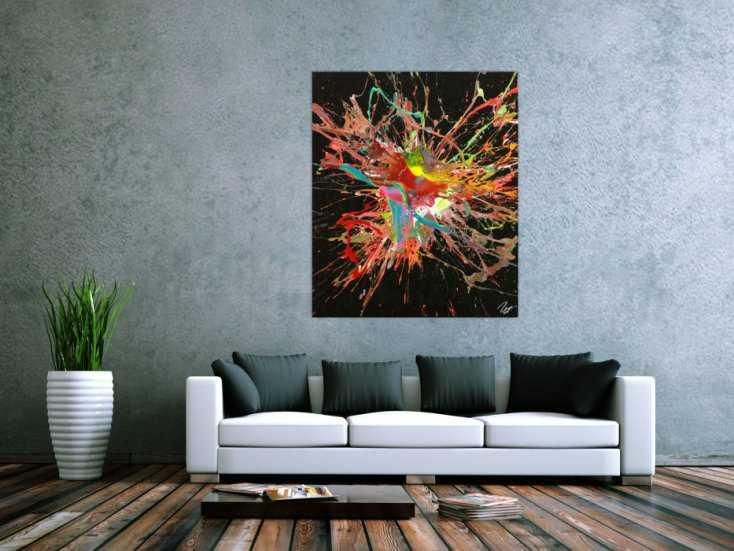 #1762 Original Gemälde abstrakt 120x100cm Action Painting Modern Art auf ... 120x100cm von Alex Zerr