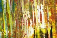 Detailaufnahme Gemälde Original abstrakt 120x180cm Spachteltechnik Moderne Kunst handgemalt bunte Farben Einzelstück