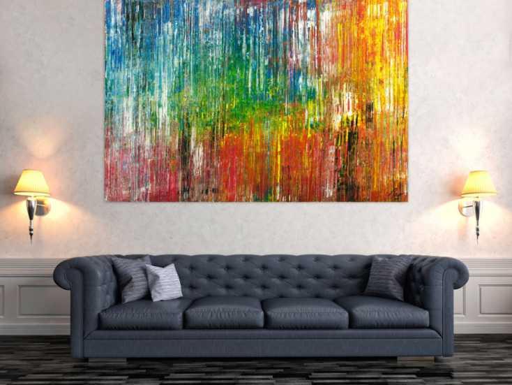 #1763 Gemälde Original abstrakt 120x180cm Spachteltechnik Moderne Kunst ... 120x180cm von Alex Zerr