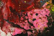 Detailaufnahme Original Gemälde abstrakt 200x150cm Action Painting zeitgenössisch handgemalt Mischtechnik schwarz bunt einzigartig