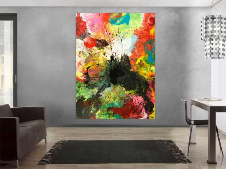 #1764 Original Gemälde abstrakt 200x150cm Action Painting zeitgenössisch ... 200x150cm von Alex Zerr