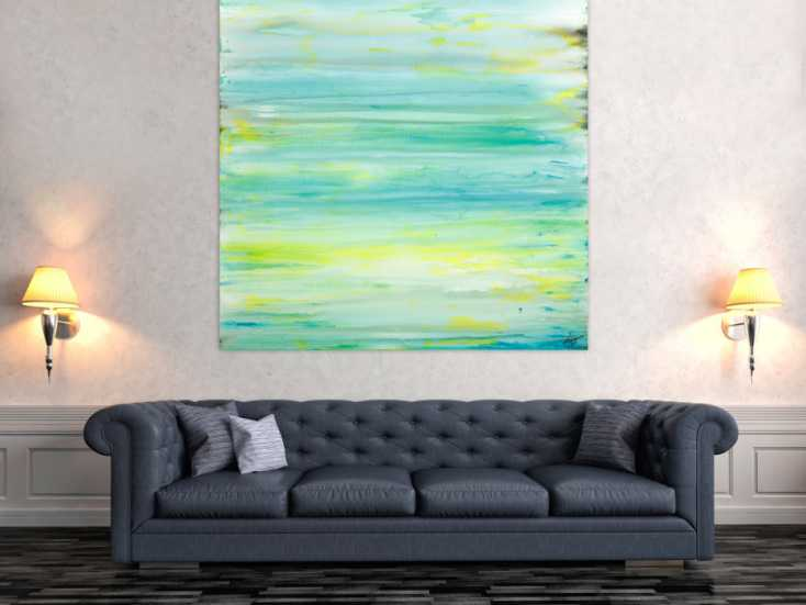 #1768 Gemälde Original abstrakt 140x140cm Mischtechnik Moderne Kunst auf ... 140x140cm von Alex Zerr