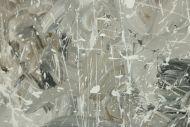 Detailaufnahme Gemälde Original abstrakt 100x120cm Action Painting zeitgenössisch handgefertigt Mischtechnik weiß grau anthrazit Unikat