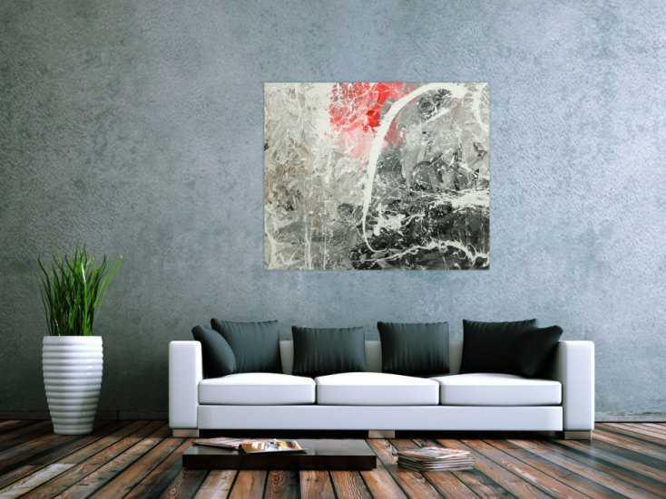 #1769 Gemälde Original abstrakt 100x120cm Action Painting zeitgenössisch ... 100x120cm von Alex Zerr
