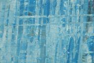 Detailaufnahme Original Gemälde abstrakt 70x120cm Spachteltechnik zeitgenössisch handgemalt  hellblau türkis anthrazit hochwertig