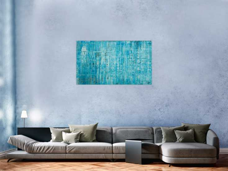 #1770 Original Gemälde abstrakt 70x120cm Spachteltechnik zeitgenössisch ... 70x120cm von Alex Zerr
