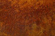 Detailaufnahme Original Gemälde abstrakt 160x100cm Aus echtem Rost Modern Art auf Leinwand orange braun hochwertig