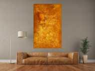 Original Gemälde abstrakt 160x100cm Aus echtem Rost Modern Art auf Leinwand orange braun hochwertig