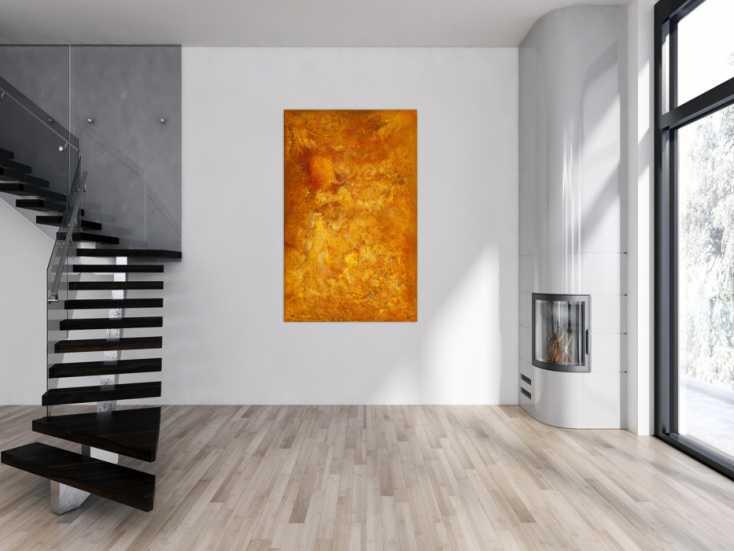 #1772 Original Gemälde abstrakt 160x100cm Aus echtem Rost Modern Art auf ... 160x100cm von Alex Zerr