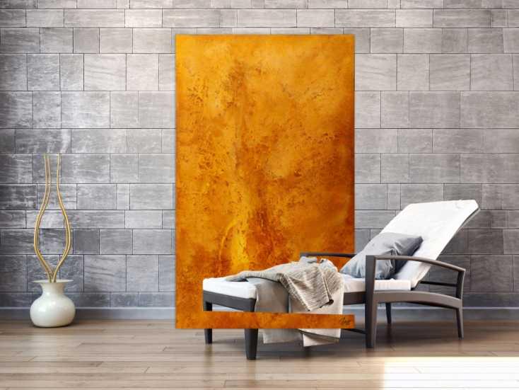 #1773 Gemälde Original abstrakt 180x110cm Aus echtem Rost ... 180x110cm von Alex Zerr