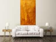 Gemälde Original abstrakt 180x110cm Aus echtem Rost expressionistisch handgemalt braun orange Unikat