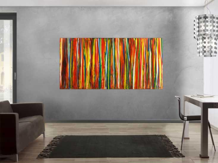 #1777 Gemälde Original abstrakt 100x200cm Spachteltechnik Modern Art auf ... 100x200cm von Alex Zerr