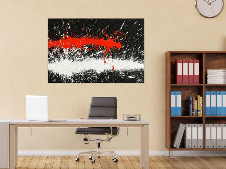 #1779 Abstraktes Original Gemälde 80x120cm Minimalistisch Modern Art ... 80x120cm von Alex Zerr