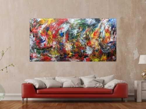 Abstraktes Wanbild Acrylgemälde modern