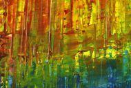 Detailaufnahme Gemälde Original abstrakt 150x220cm Spachteltechnik Modern Art handgemalt  rot blau schwarz Unikat