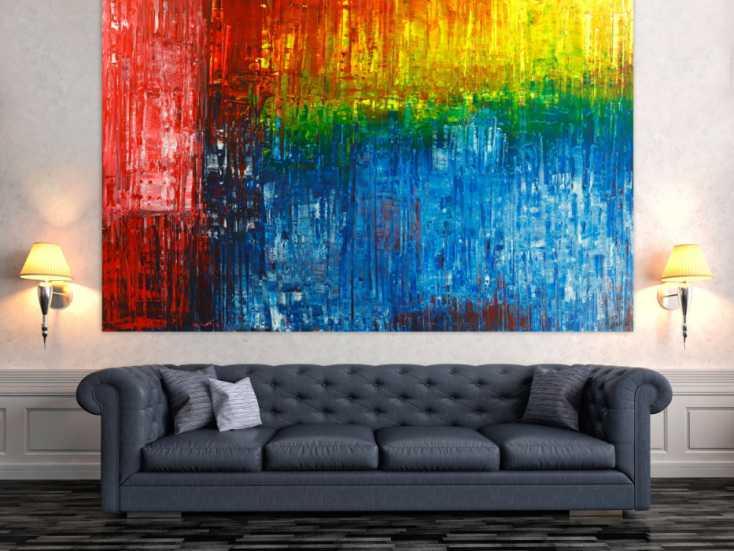 #1780 Gemälde Original abstrakt 150x220cm Spachteltechnik Modern Art ... 150x220cm von Alex Zerr