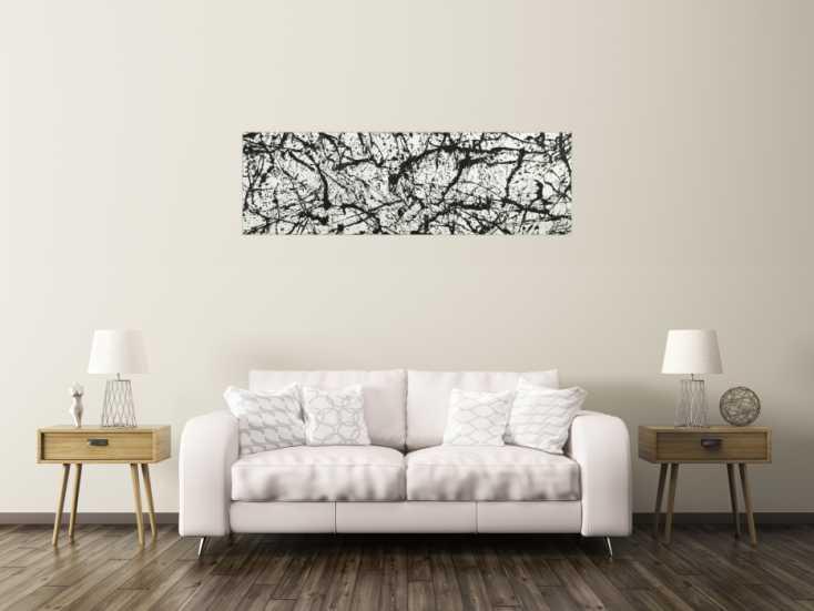#1781 Original Gemälde abstrakt 50x160cm Minimalistisch Modern Art auf ... 50x160cm von Alex Zerr