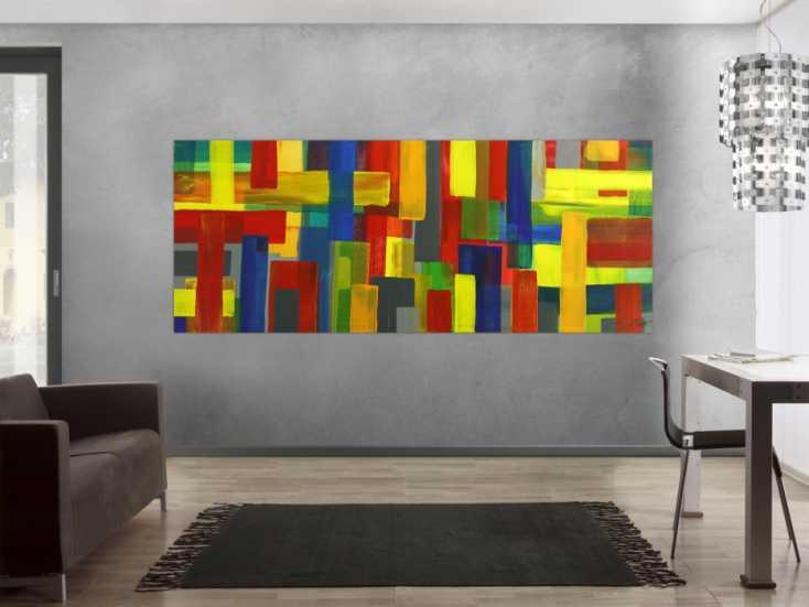 #1784 Gemälde Original abstrakt 100x250cm Mischtechnik Moderne Kunst auf ... 100x250cm von Alex Zerr