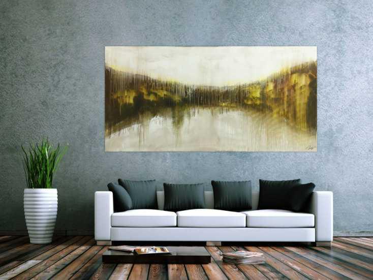 #1785 Abstraktes Original Gemälde 100x200cm Mischtechnik expressionistisch ... 100x200cm von Alex Zerr
