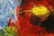 Detailaufnahme Original Gemälde abstrakt 100x200cm Action Painting expressionistisch handgemalt  schwarz rot braun Einzelstück