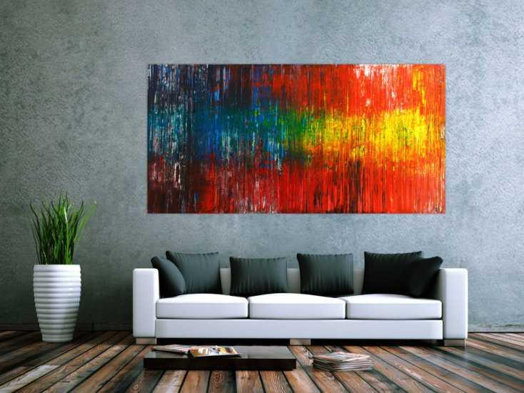 #1787 Original Gemälde abstrakt 100x200cm Spachteltechnik Modern Art ... 100x200cm von Alex Zerr