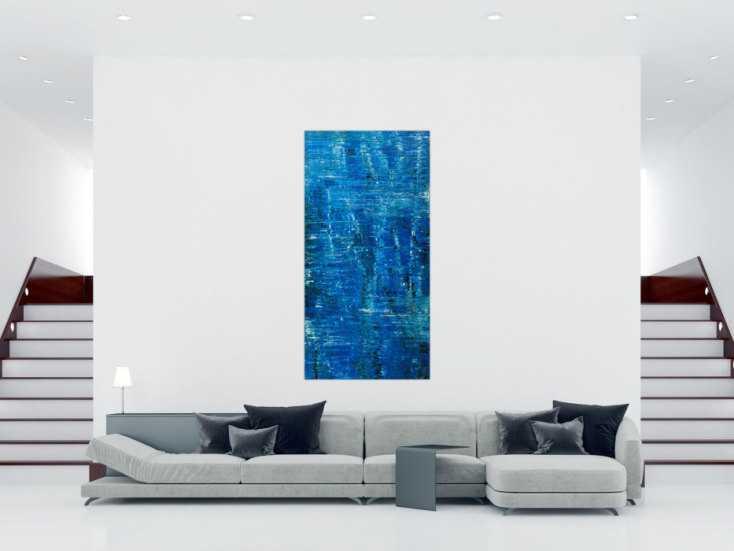 #1788 Abstraktes Original Gemälde 200x100cm Spachteltechnik Modern Art auf ... 200x100cm von Alex Zerr